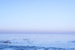 View of sea in winter Stock Photography