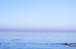 View of sea in winter Royalty Free Stock Photos