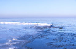 View of sea in winter Royalty Free Stock Photo