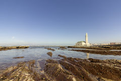 View on seafront of Grande Mosquée Hassan II in Casablanca Stock Photography