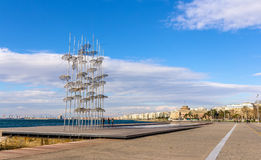 View of seafront in Thessaloniki Stock Photo