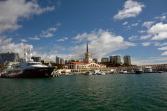 View of the seaport Sochi in Russia in early autumn Stock Photo