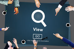 View Search Searching Inspect Vision Concept Stock Photo