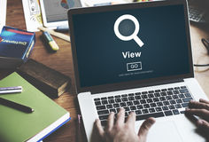 View Search Searching Inspect Vision Concept Royalty Free Stock Images