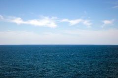 View of seascape and cloudscape. Royalty Free Stock Photos
