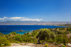 The view of seascape and mountains Royalty Free Stock Image