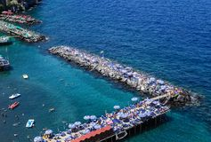 The Seascape in Sorrento, Italy. View of Seascape in Sorrento, Italy stock image