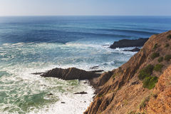 View of the seascape on top of the rocks and waves. Royalty Free Stock Photos