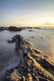 View of seascapes during sunrise in nature composition. Stock Photos