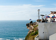 View of seaside village of Nazare Portugal Royalty Free Stock Image