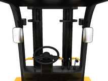 The view from seat forklift truck on steering Stock Photography