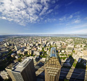 A  view of seattle downtown from columbia tower Stock Photography