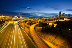 The View of Seattle from Dr Jose Rizal Bridge Royalty Free Stock Photos