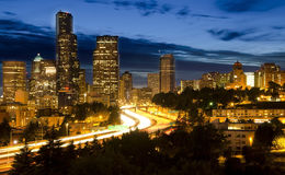 The View of Seattle from Dr Jose Rizal Bridge Stock Image