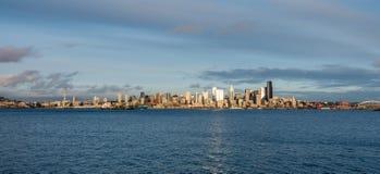 Seattle Skyscrapers Panorama Stock Image