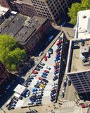 Triamgular parking lot from above Royalty Free Stock Photo