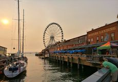 Seattle, waterfront. royalty free stock photo