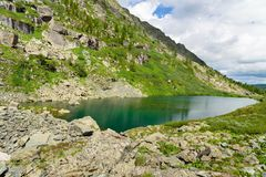 View on Second Lake of Karakol lakes in Altai Republic. Russia Royalty Free Stock Image