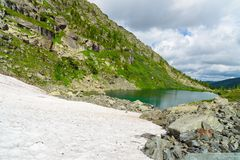 View on Second Lake of Karakol lakes in Altai Republic. Russia Royalty Free Stock Photos