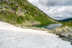 View on Second Lake of Karakol lakes in Altai Republic. Russia Royalty Free Stock Images