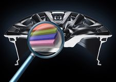 The shape of wheel. The view of section in the shape of wheel Stock Photos