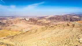 View of sedimentary rocks around Wadi Araba Royalty Free Stock Photo