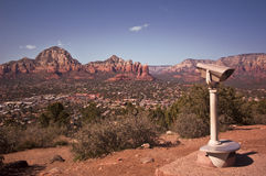 View from Sedona's Airport Mesa. This is a view from Sedona's Airport Mesa in Arizona's Red Rock Country stock photo