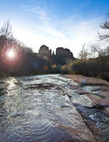 A View of Sedona's Oak Creek and Cathedral Rock Royalty Free Stock Photos