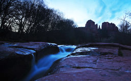 A View of Sedona's Oak Creek and Cathedral Rock Stock Photos
