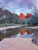 A View of Sedona's Oak Creek and Cathedral Rock Stock Photography