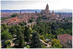 View of Segovia. A splendid view of Segovia from the Castle Royalty Free Stock Image