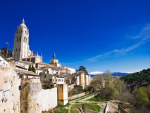 View of Segovia Stock Photography