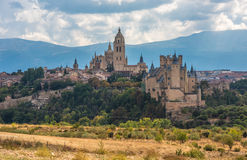 View of Segovia, Castilla y Leon, Spain. Scenic view of Segovia, Castilla y Leon, Spain Stock Photo