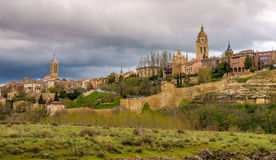 View at the Segovia city stock images
