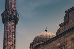 View of the Sehzade MosqueMosque of the Prince, Ottoman imperial mosque. Istanbul. Turkey Stock Photography
