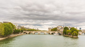 View of Seine and Ile de la Cite in Paris Royalty Free Stock Image