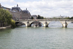 View of the Seine River Stock Image