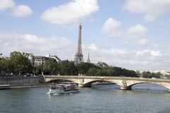 View of the Seine River Royalty Free Stock Photos
