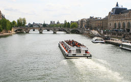 View of Seine river and Musee d'Orsay. Paris Royalty Free Stock Photography