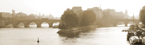 View of Seine River in Paris, France Royalty Free Stock Image
