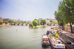 View of Seine river Stock Image
