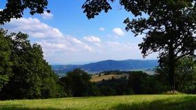 View from Selciansky diel, Slovakia stock footage