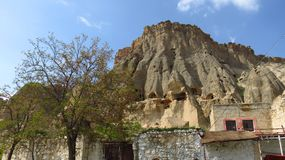 View of Selime Monastery in Cappadocia royalty free stock photo