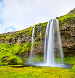 View of Seljalandsfoss waterfall - Iceland Royalty Free Stock Photo