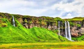 View of Seljalandsfoss waterfall - Iceland. View of Seljalandsfoss waterfall in South Iceland stock photography
