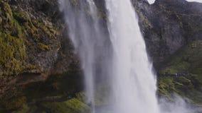 View of Seljalandsfoss watfall in Iceland.  stock footage