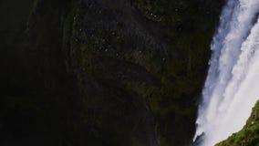 View of Seljalandsfoss watfall in Iceland.  stock video footage