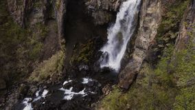 View of Seljalandsfoss watfall in Iceland stock video footage