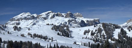 View of Sella Group, Alta Badia - Dolomites Royalty Free Stock Photo