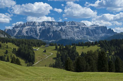 View of Sella Group, Alta Badia - Dolomites Stock Photo